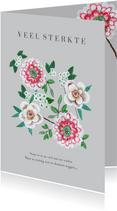 Sterkte en Medeleven botanische bloemen