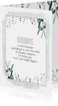 Sterkte kaart Goodbye