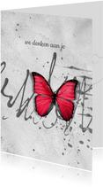 Sterkte kaart scribble vlinder