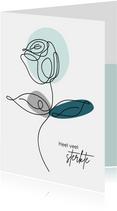 Sterkte - Lijntekening van een roos