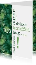 Sterkte Typografisch met botanische print