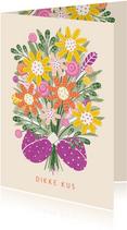 Sterktekaart armen vol bloemen