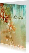 Sterktekaart bloementak painting