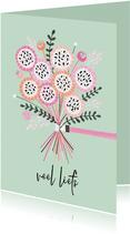 Sterktekaart bos bloemen mint