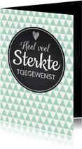 Sterktekaart modern trendy zigzag print mint