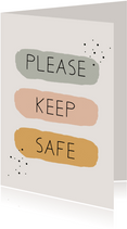 Sterktekaart Please keep safe