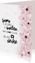 Sterktekaart spreuk bloemen hart
