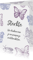 Sterktekaart vlinders en eigen tekst