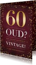 Stijlvolle 60ste verjaardagskaart met humor oud of vintage