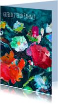 Stijlvolle bloemen kunst print