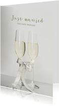 Stijlvolle felicitatiekaart voor een bruiloft