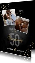 Stijlvolle jubileum uitnodiging 50 jaar getrouwd