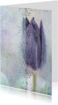 Stijlvolle kaart met tulp