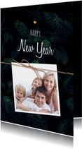 Stijlvolle kerstkaart met foto's