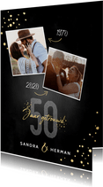 Stijlvolle uitnodigingskaart jubileum 50 jaar getrouwd