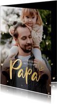 Stijlvolle valentijnskaart met grote foto voor een vader