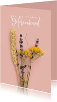 Stijlvolle verjaardagskaart met bloemen