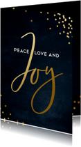 Stijlvolle zakelijke kerstkaart  Love peace and Joy