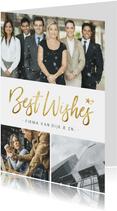 Stijlvolle zakelijke nieuwjaarskaart met 3 eigen foto's