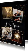 Stijlvolle zakelijke nieuwjaarskaart met fotocollage