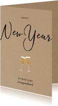 Stijlvolle zakelijke uitnodiging nieuwjaarsborrel