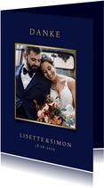Stilvolle Danksagung zur Hochzeit mit eigenem Foto