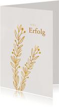 Stilvolle Grußkarte mit goldenen Zweigen
