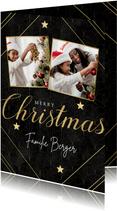 Stilvolle Weihnachtskarte vintage Muster, Fotos & Typografie