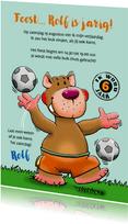 Stoere uitnodiging voor (voetbal)feestje met vriendjes