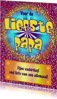 Vaderdag kaarten - Stoere vaderdagkaart DISCO