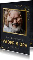 Stoere vaderdagkaart met foto voor de beste vader en opa