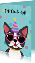 Stoere verjaardagskaart met hond