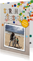 Strandfeestje confetti eigen foto
