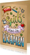 Succes Examen lettering