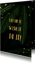 Succes  jungle bladeren met quote