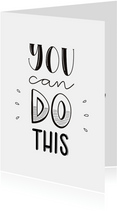 Succes kaart - You can do this