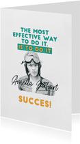 Succes kaarten - Succeskaart - Amelia Earhart