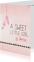 Sweet little girl is born...