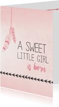 Sweet little girl is born...