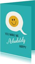Tekstballon met gouden smiley voor iemand speciaal