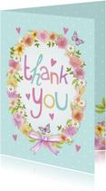 Thank You bloemenkrans