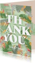 Tropische Blätter Dankeskarte