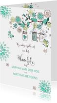 Trouwkaart Huwelijk Tuinfeest