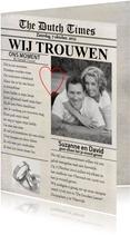 Trouwkaart Krant Eigen Foto Cartita