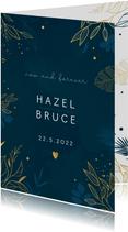 Trouwkaart met botanisch goud