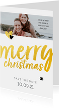 Trouwkaart - save the date merry christmas