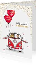 Trouwkaart VWbus front