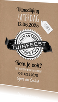 Tuinfeest 100% fun-isf