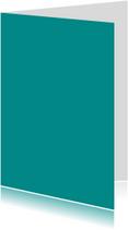 Turquoise dubbel staand