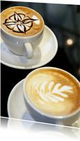 Twee kopjes koffie - Cappuccino